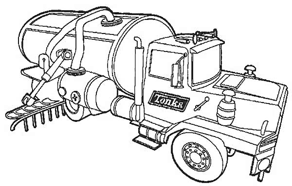 kids coloring pages semi-truck-free,printable,coloring pages