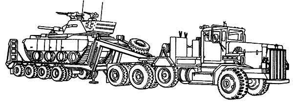 coloring pages tractors trucks - photo#28