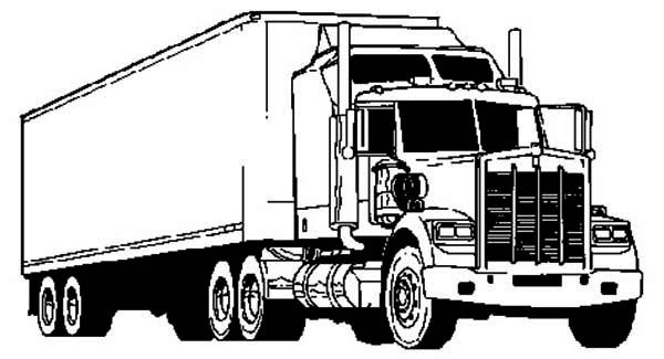 14 printable pictures of semi truck free page print for Free truck coloring pages