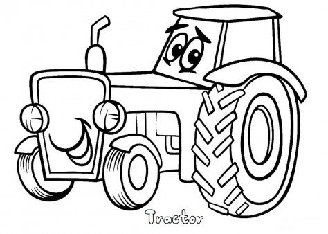 kids coloring pages tractor,printable,coloring pages