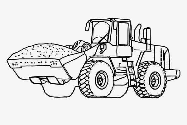 Fired Up Free Tractor Coloring | Tractors | Farm | YesColoringn | Easy | 402x600