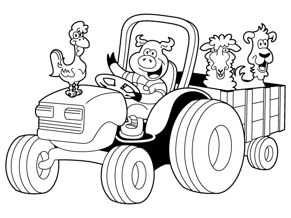 tractor coloring pages printable,printable,coloring pages