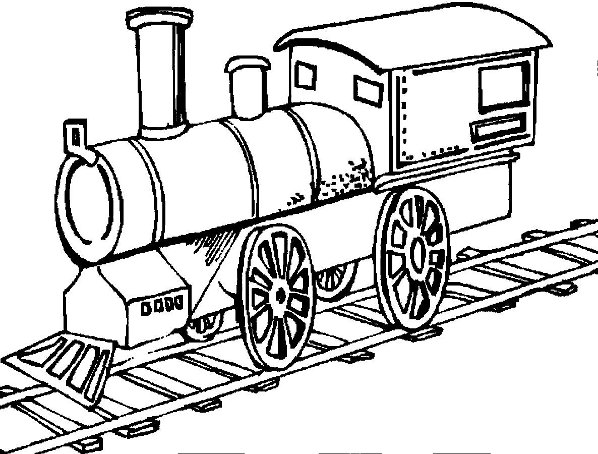 Train coloring template - Kids Coloring Pages Train Printable Coloring Pages