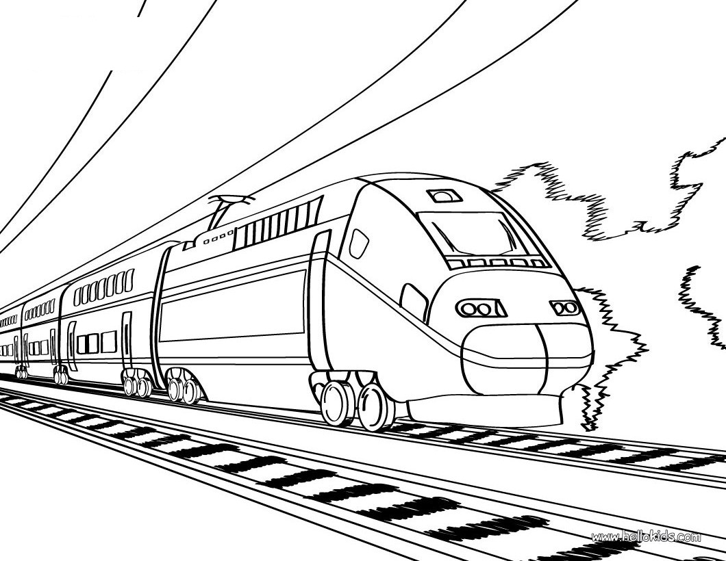 train coloring page,printable,coloring pages