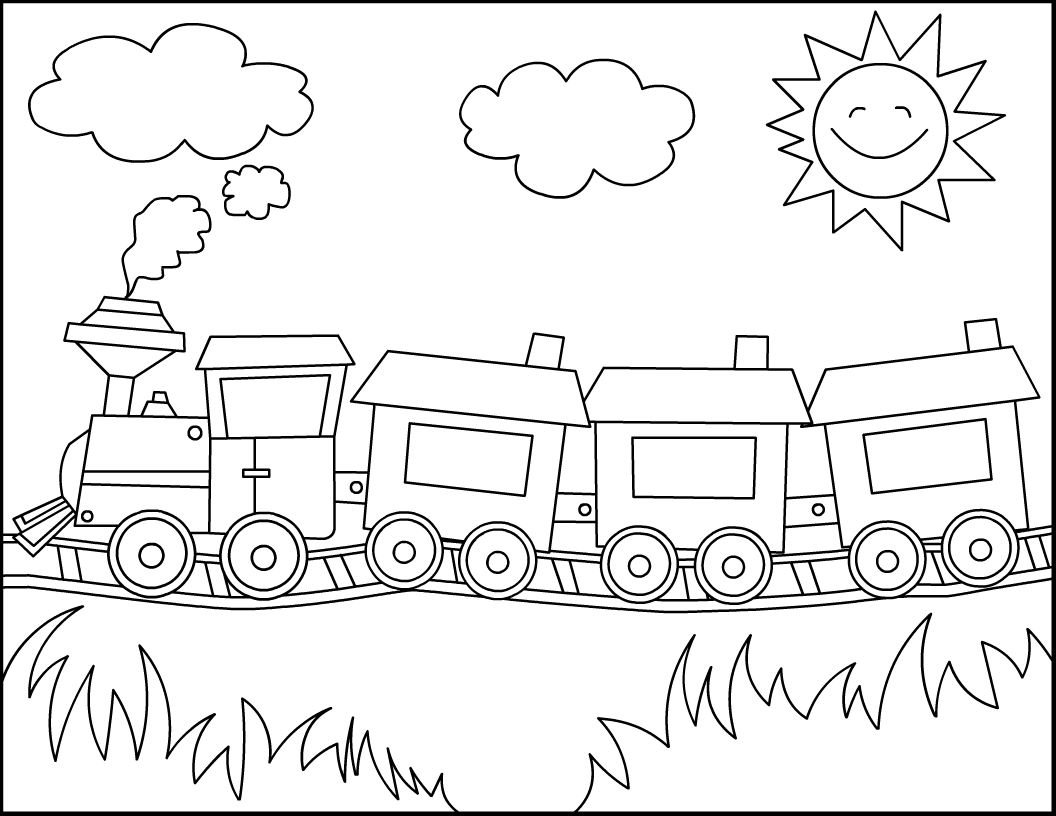train coloring pages for kids,printable,coloring pages