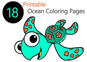18 Free Printable Ocean Coloring Pages