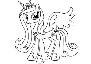 Alicorn My Little Pony Princess Cadence Coloring Pages