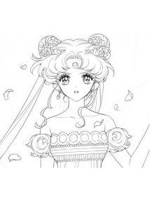 Anime Eyes Sailor Moon Princess Serenity Coloring Pages