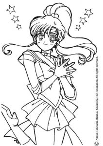 Anime Jupiter Sailor Moon Coloring Pages