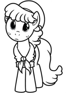 Applejack My Little Pony Coloring Pages