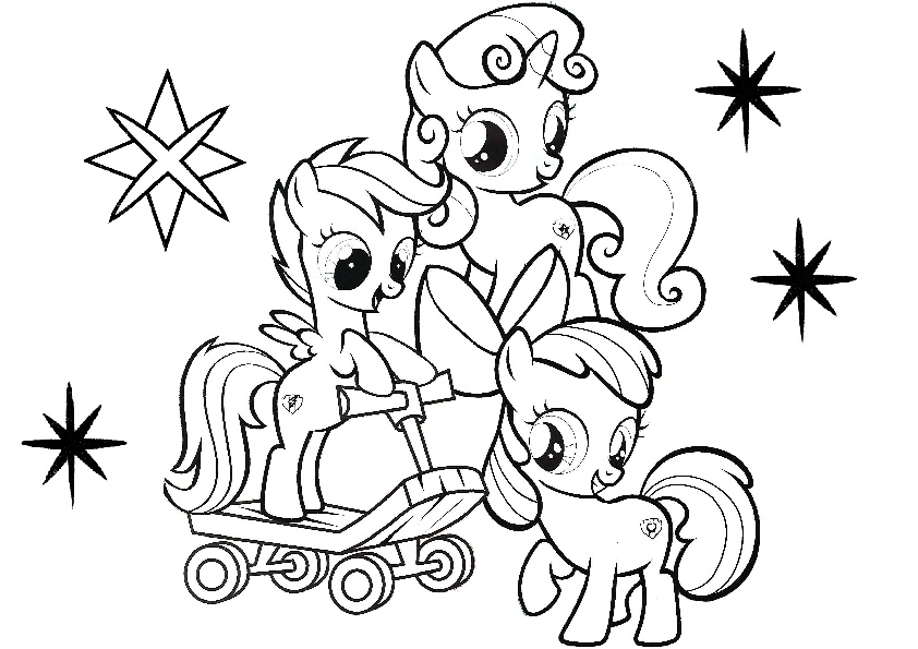 Cute Baby My Little Pony Coloring Pages
