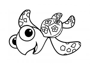 Cute Baby Turtle Underwater and Ocean Coloring Pages for Toddlers
