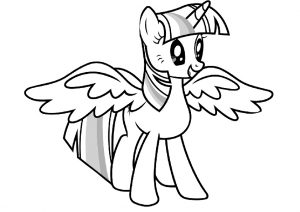 Cute Looking My Little Pony Magical Twinkle Sparkle Coloring Pages