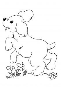 Cute Puppy Printable Dog Coloring Pages