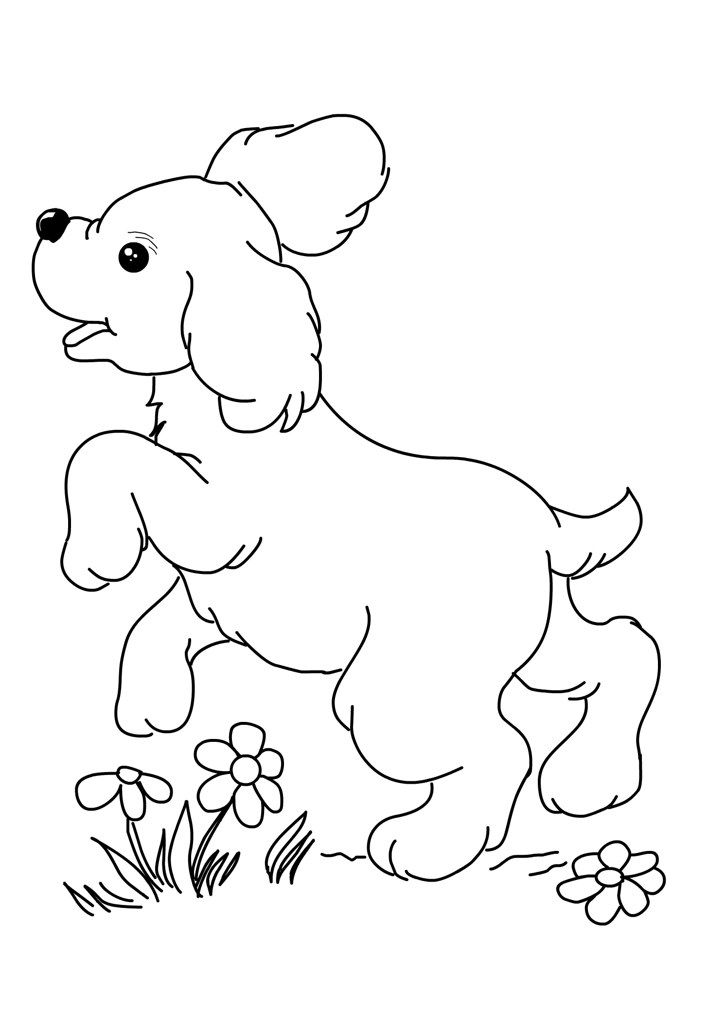 Cute Puppy Printable Dog Coloring Pages - Print Color Craft