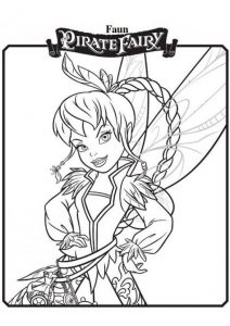 Fawn Pirate Fairy Printable Tinkerbell Coloring Pages
