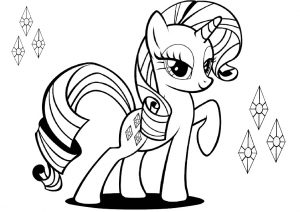 Generosity Pony with Cutie Mark Rarity Coloring Pages My Little Pony