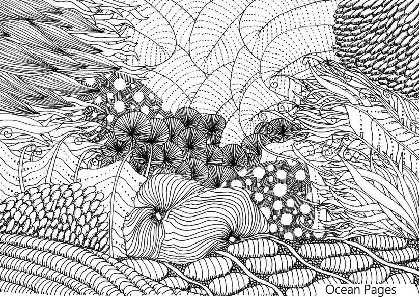Coloring Book Rainforest Plantsoring Pagesopical For Adults Plants ... | 583x825