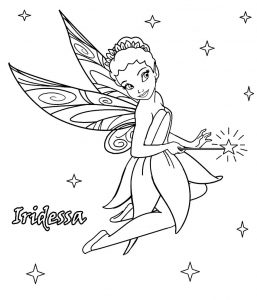 Iridessa Disney Fairy Tinkerbell Coloring Pages