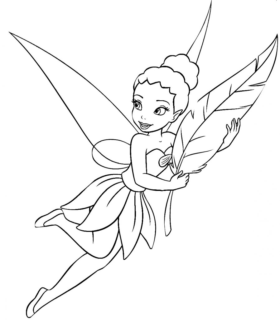 Pixie Hollow Fairies Coloring Page - NetArt | 1024x898