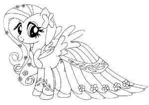 Majestic Looking Fluttershy Pony Coloring Pages