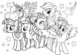 My Little Pony All Characters Coloring Pages for Girls