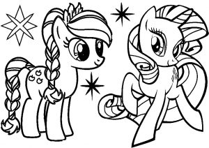 My Little Pony Applejack and Rarity Coloring Pages