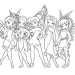 19 Tinkerbell Coloring Pages: Tinkerbell and Friends