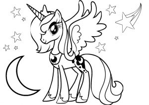 Princess Luna Coloring Pages My Little Pony Luna Moon
