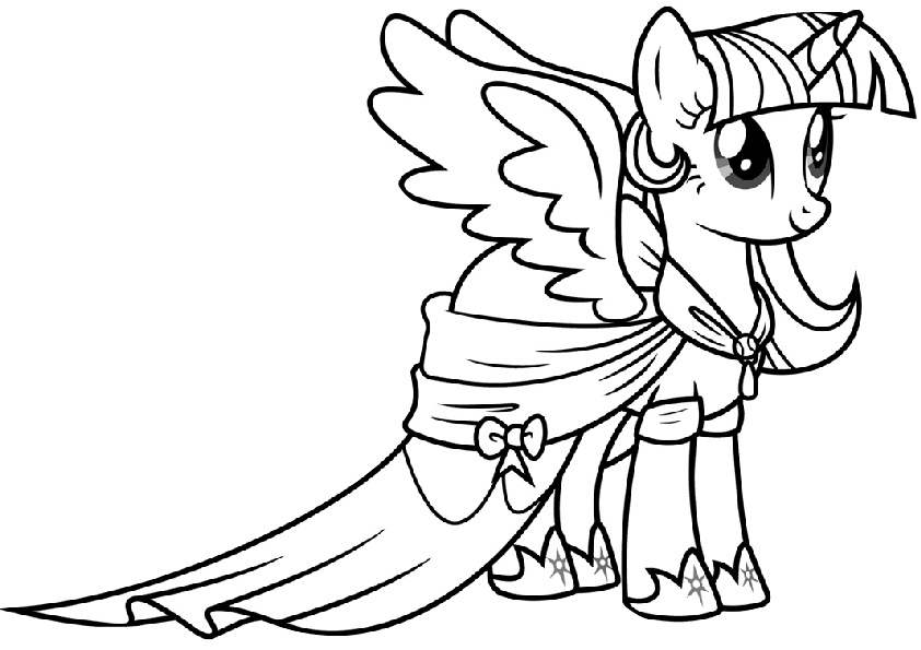 Princess Twilight Sparkle My Little Pony Coloring Pages