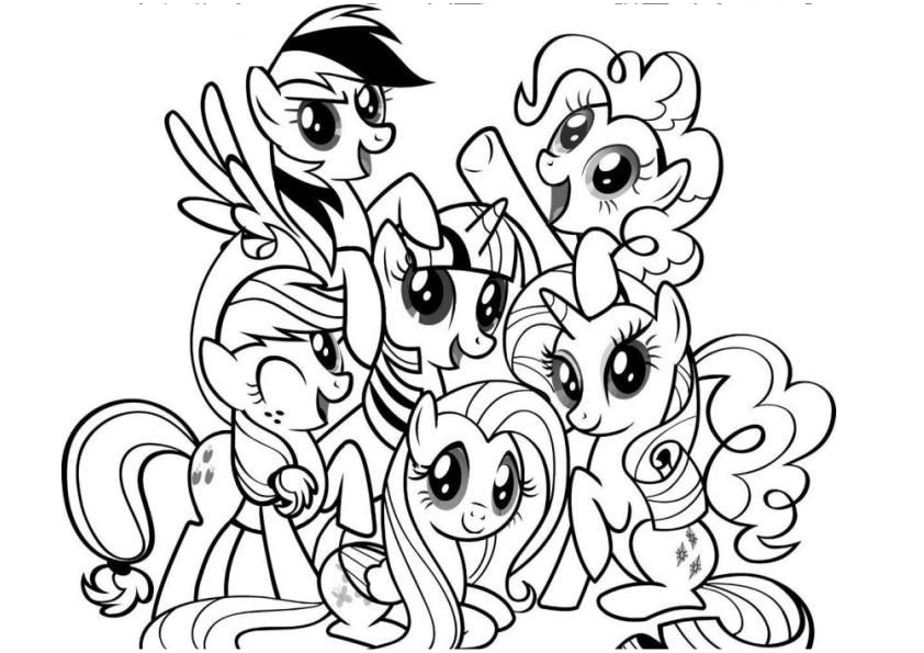Printable My Little Pony All Characters Coloring Pages