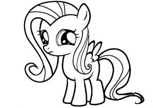 Sad looking My Little Pony Coloring Pages