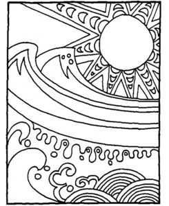 Summer Season Adult Ocean Mandala Coloring Pages