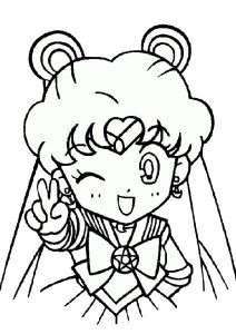 Super Cute Sailor Moon Free Printable Coloring Pages