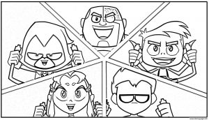 Teen-Titans-Go Coloring Pages All Characters