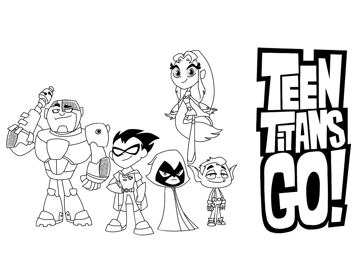 16 Teen Titans Coloring Pages {All Characters Printable Sheets