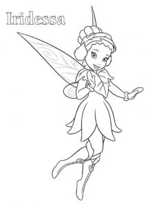 Tinkerbell Friends Iridessa Coloring Pages