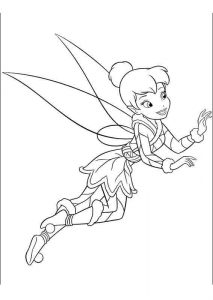 Winter Season Tinkerbell Coloring Pages