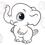 17 Elephant Coloring Pages: Animals Printable PDF