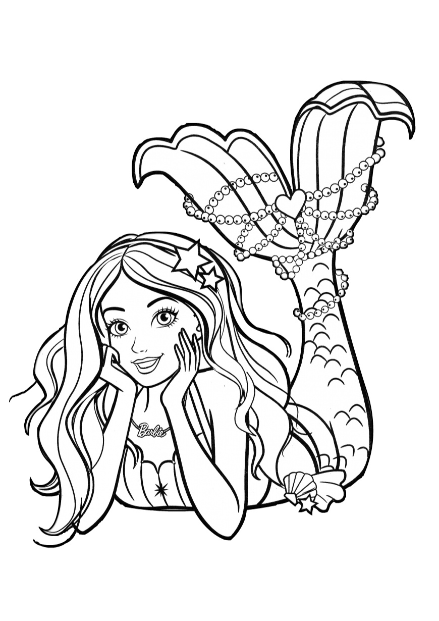 Day Dreaming Barbie Coloring Pages - Print Color Craft