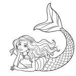 16 Cute Mermaid Coloring Pages for Girls