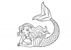 Easy Mermaid Coloring Pages for Teen