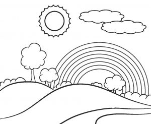 Easy Preschool Rainbow Coloring Pages for Toddlers