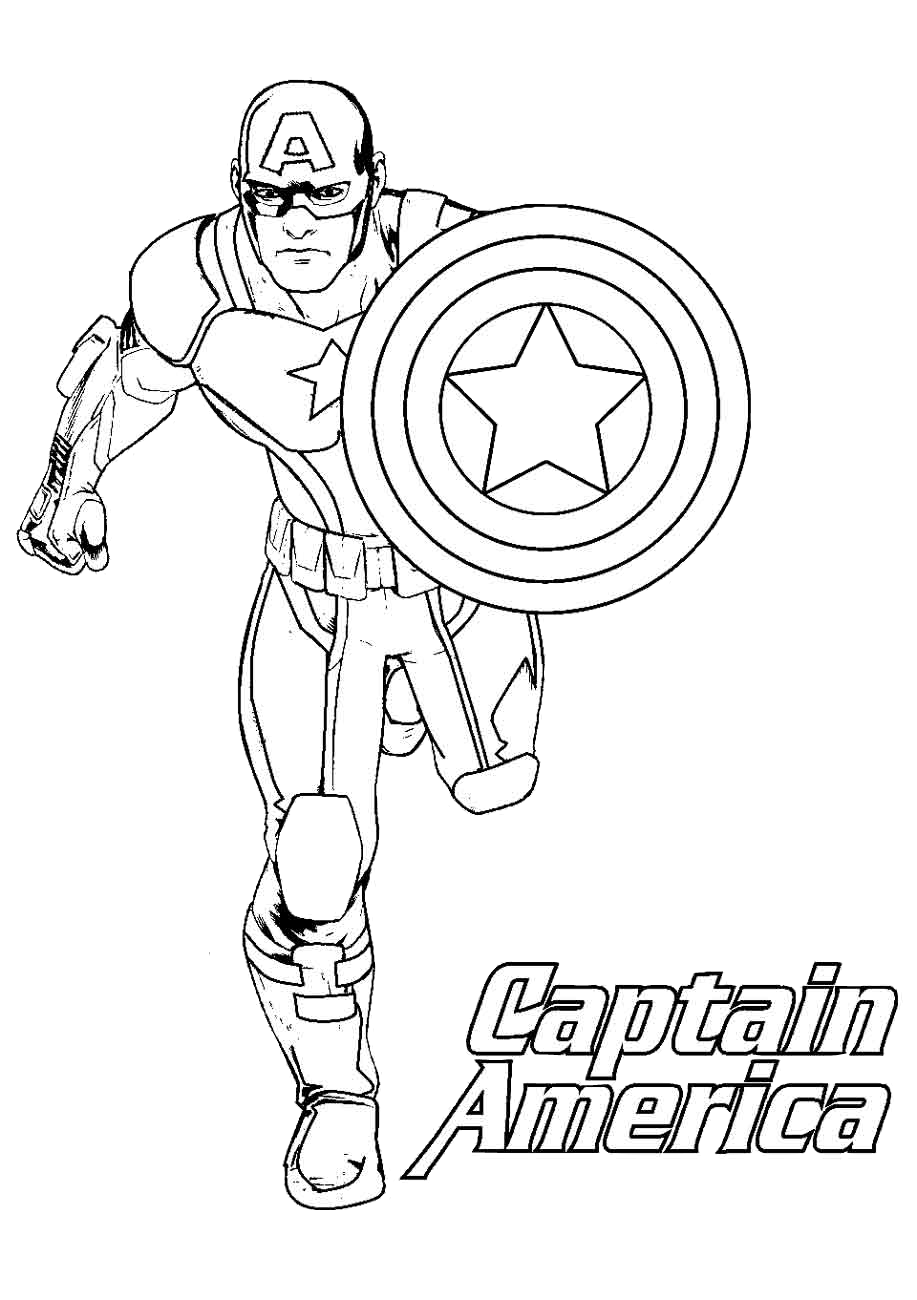 Free Printable Captain America Coloring Pages New and Easy Coloring Pictures