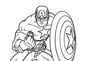 24 Printable Captain America Coloring Pages