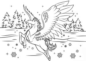 Printable Pegasus Coloring Pages for Girls & Adults
