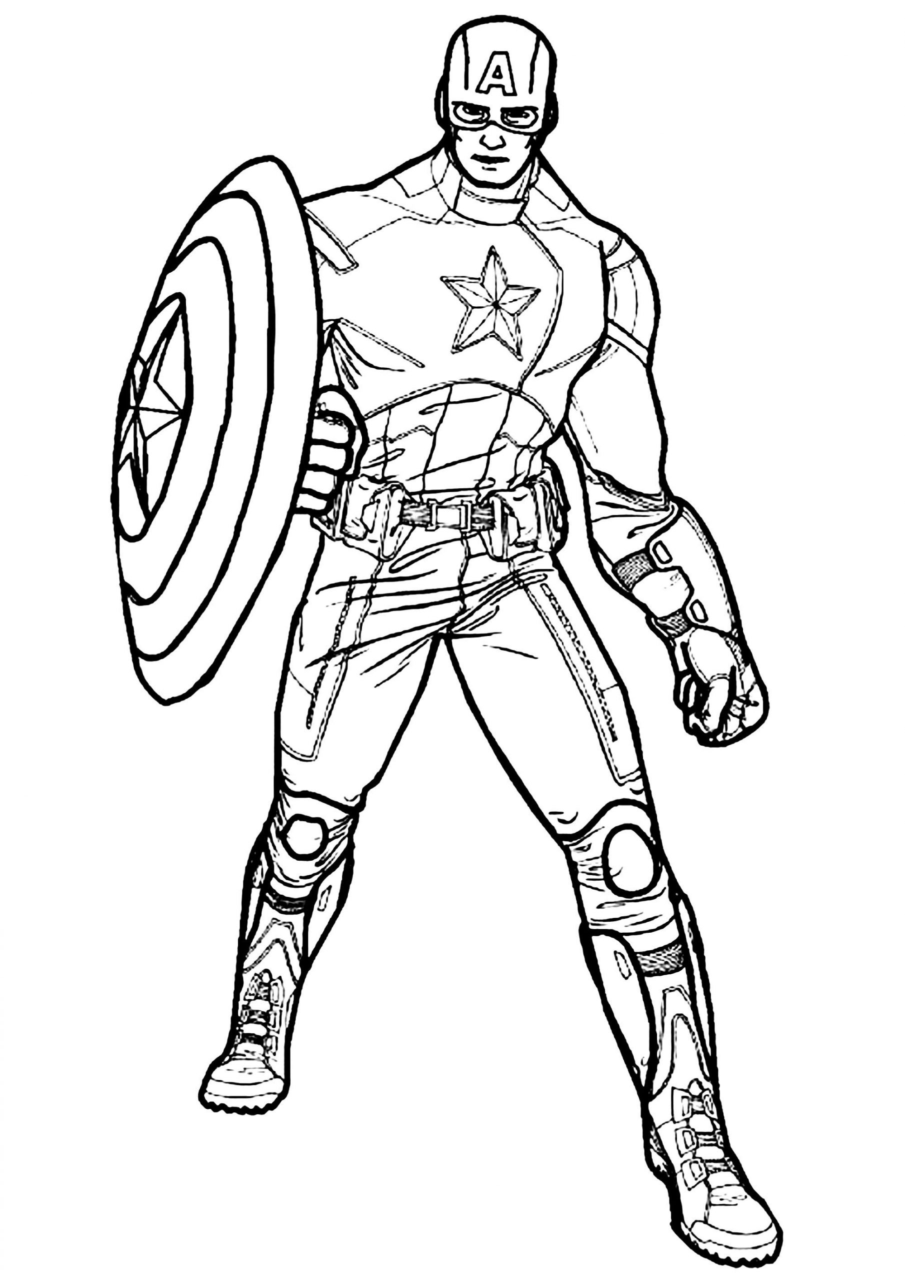 Winter soldier Captain America Coloring Pages Print and Color