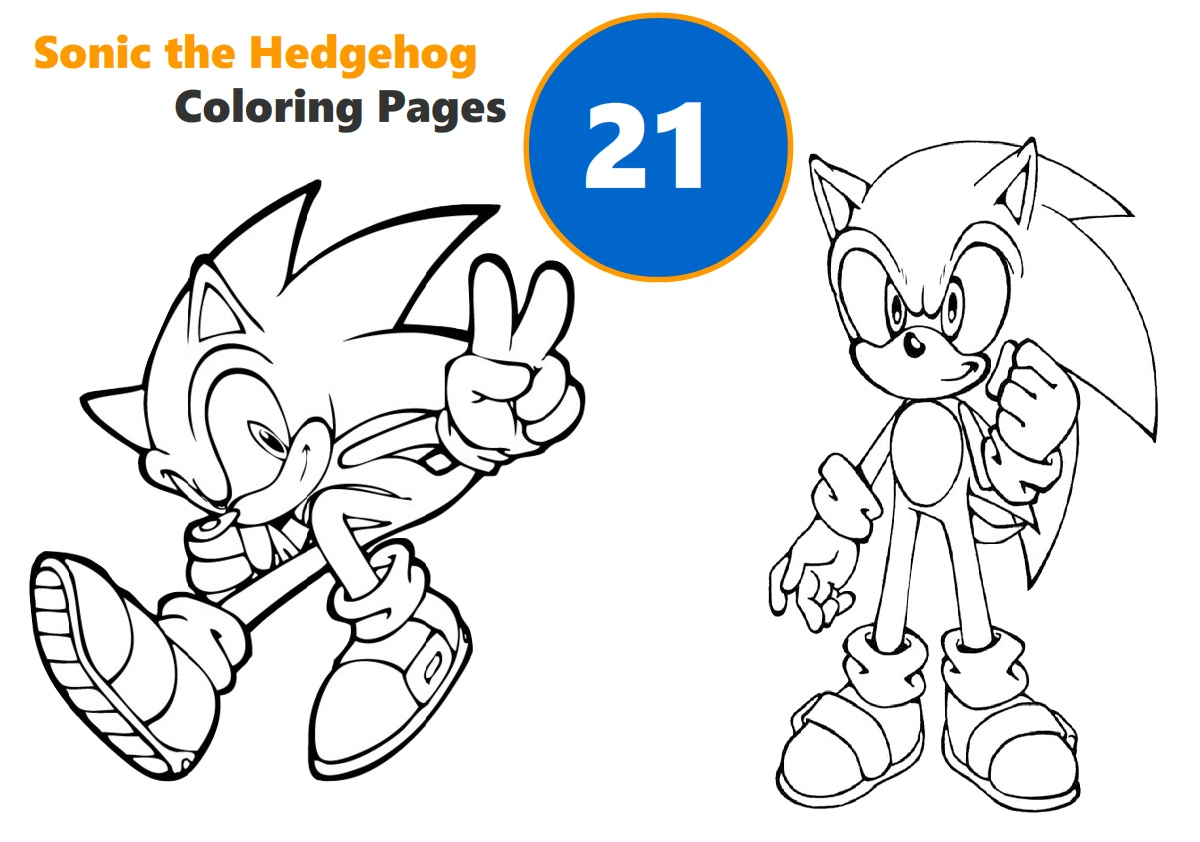 21 Printable Sonic the Hedgehog Coloring Pages for Kids All Characters