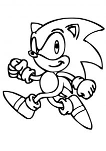 Classic Old Simple Sonic the Hedgehog Coloring Pages