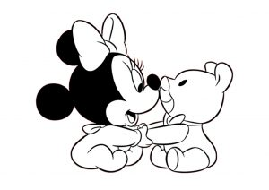 Cute Minnie Mouse Baby Disney Coloring Pages